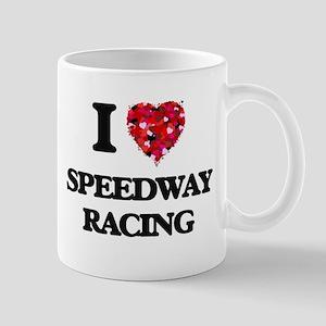 I Love Speedway Racing Mugs