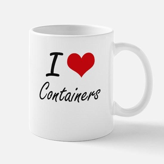 I Love Containers Artistic Design Mugs