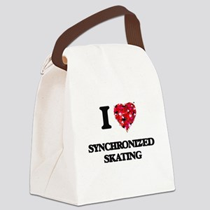 I Love Synchronized Skating Canvas Lunch Bag