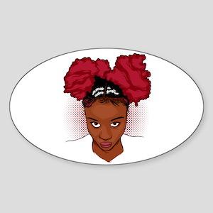 CurlyGirl Kinky Natural Hair Afro Puff Sticker