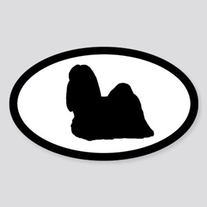 Shih Tzu Oval Sticker