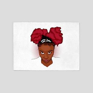 CurlyGirl Kinky Natural Hair Afro P 5'x7'Area Rug