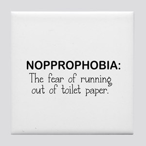 THE FEAR OF RUNNING OUT OF TOILET PAP Tile Coaster