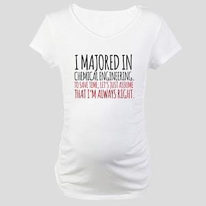 Chemical Engineer Major Maternity T-Shirt