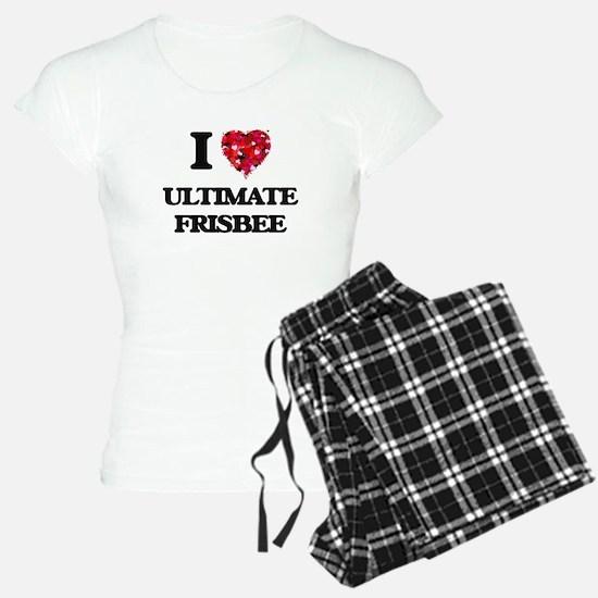 I Love Ultimate Frisbee Pajamas