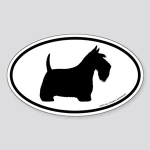 Scottish Terrier Oval Sticker