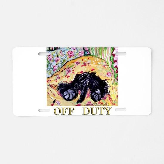 Scottish Terrier Off Duty Aluminum License Plate