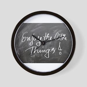 Enjoy the Little Things! (Chalkboard) Wall Clock