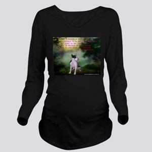Thru the shadows (w/quote) Long Sleeve Maternity T