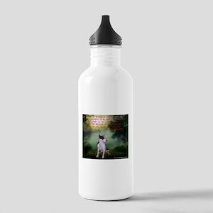 Thru the shadows (w/quote) Water Bottle