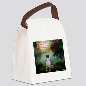 Thru the shadows (w/quote) Canvas Lunch Bag
