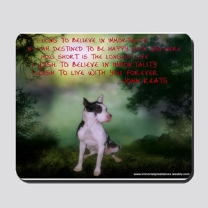 Thru the shadows (w/quote) Mousepad