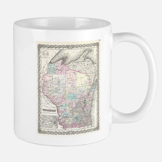 Vintage Map of Wisconsin (1855) Mugs