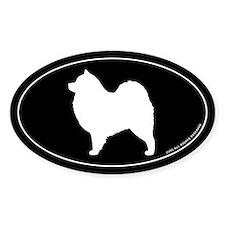 Samoyed Oval Sticker
