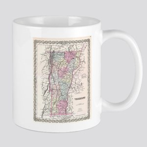 Vintage Map of Vermont (1855) Mugs