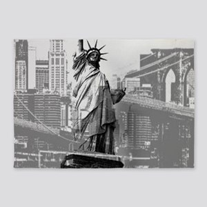 New York statue of liberty 5'x7'Area Rug