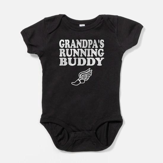 Grandpas Running Buddy Baby Bodysuit
