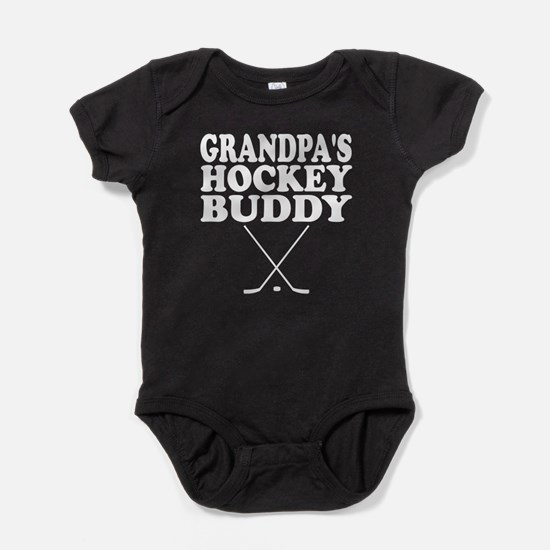 Grandpas Hockey Buddy Baby Bodysuit