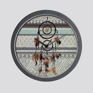 native tribal pattern dream catcher Wall Clock