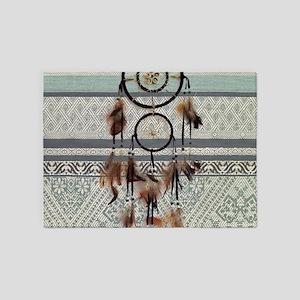 native tribal pattern dream catcher 5'x7'Area Rug