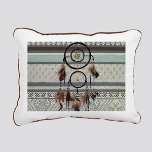 native tribal pattern dr Rectangular Canvas Pillow