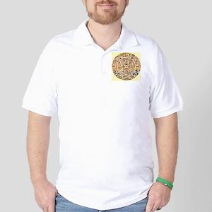 chinese dragon gold kimono Golf Shirt