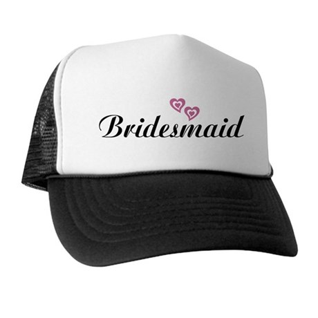 Bridesmaid Black Trucker Hat