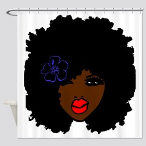 Curly Hair Shower Curtains