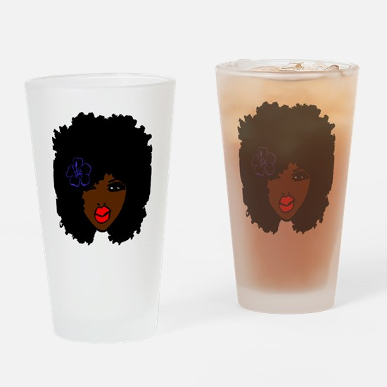 Cute Afrocentric Drinking Glass