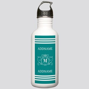 Modern Teal Victorian Stainless Water Bottle 1.0L