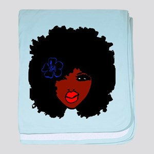 BrownSkin Curly Afro Natural Hair???? baby blanket