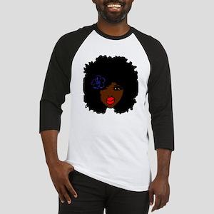 BrownSkin Curly Afro Natural Hair? Baseball Jersey