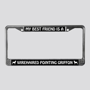 Wirehaired Pointing Griffon (friend) License Frame