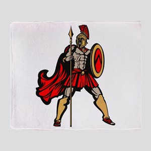 Spartan Warrior Throw Blanket