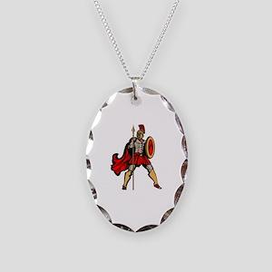 Spartan Warrior Necklace Oval Charm