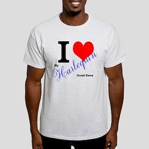 I heart my harlequin Great dane T-Shirt