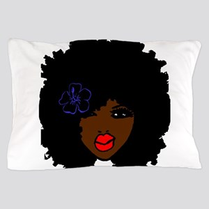 BrownSkin Curly Afro Natural Hair???? Pillow Case