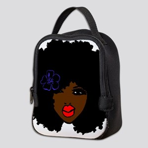 BrownSkin Curly Afro Natural Ha Neoprene Lunch Bag