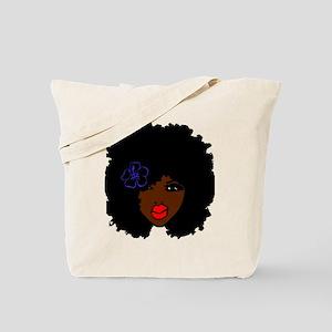 BrownSkin Curly Afro Natural Hair???? Pin Tote Bag