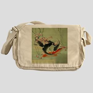 zen japanese koi fish Messenger Bag