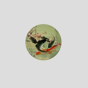 zen japanese koi fish Mini Button
