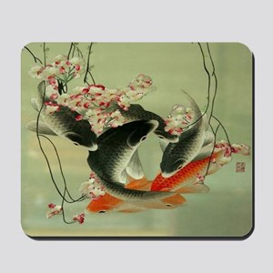 zen japanese koi fish Mousepad