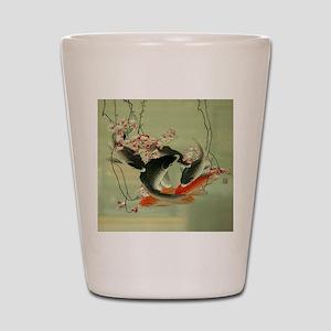 zen japanese koi fish Shot Glass