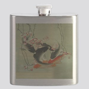 zen japanese koi fish Flask