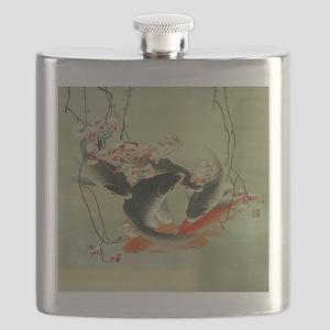 zen japanese koi fish Flask