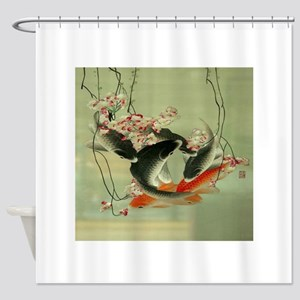 zen japanese koi fish Shower Curtain