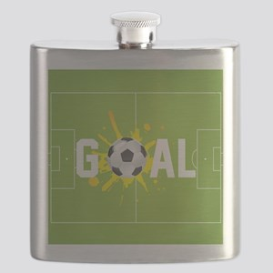 Football Ball And Field Flask