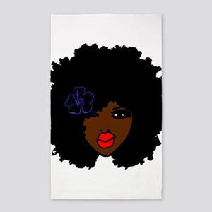 BrownSkin Curly Afro Natural Hair???? Pin Area Rug