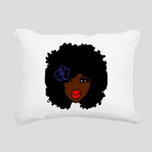 BrownSkin Curly Afro Nat Rectangular Canvas Pillow