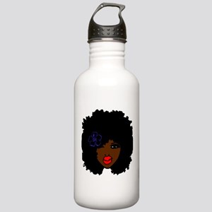 BrownSkin Curly Afro N Stainless Water Bottle 1.0L